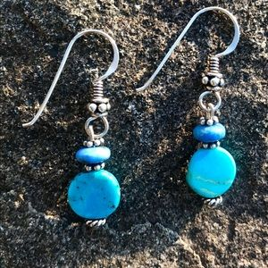 Jewelry - Turquoise and Lapis earrings
